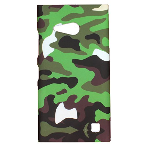 Heartly Army Style Retro Color Armor Hybrid Hard Bumper Back Case Cover For Nokia Lumia 730 Dual SIM RM-1040 - Army Green  available at amazon for Rs.149
