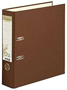 Exacompta 53984E Classeur à Levier en Carte Recyclée Forever 2 Anneaux Format A4 Dos de 80 mm Chocolat/Beige