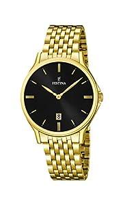 Festina F16746/4 - Reloj de pulsera hombre, acero inoxidable chapado, color dorado de Festina
