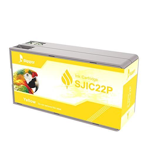 Cartucce d'inchiostro di ricambio più grandi per Epson Tm-c3500, SJIC22P (Y), inchiostro nero compatibile con stampanti Epson Color Works C3500 Pigment Colour Serial Label Inkjet (1giallo)