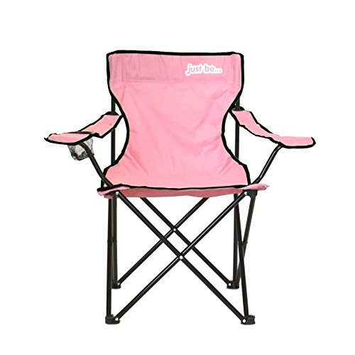 just be.® Folding Camping Chair - Pink with Black Trim