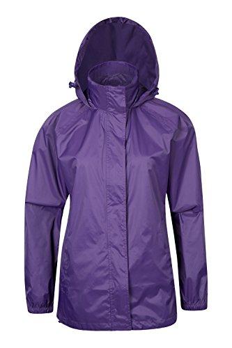 Parallel Womens Pakka Waterproof Foldable Jacket Pack Away Rain Coat PUR 10