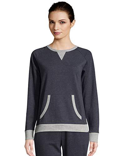 Hanes Womens Dorm Sweatshirt (HAC80189) -Indigo HEA -XL Hanes Womens Sweatshirt