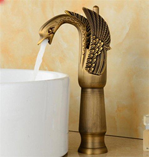 pengweiWash hand Waschbecken Wasserhahn Wasserhahn Kupfer Antik Badezimmer-Eitelkeiten auf dem warmen und kalten kontinentalen Gold höher , 2 - 2 Waschbecken Badezimmer-eitelkeit