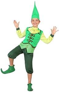 Atosa-23685 Disfraz Duende, Color verde, 7 a 9 años (23685