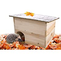 Gardigo 90568 - Hedgehog Home - Natural Wooden Hedgehog House & Hibernation Shelter