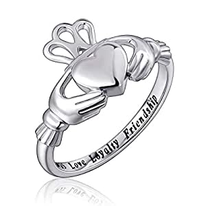 Flyow Fashion Jewelry 925 Sterling Silber Claddagh Ring