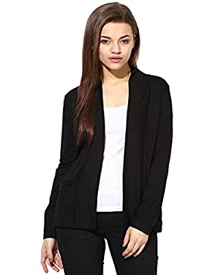 Espresso Women's Full Sleeve Front Open Viscose Shrug / Cardigan with Pocket