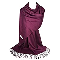 AOOPOO Pashmina Style Wrap Scarf - All Seasons - Twill Weave Soft