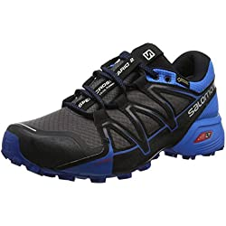 Salomon Speedcross Vario 2 GTX, Zapatillas de Trail Running Para Hombre, Multicolor (Magnet/Indigo Bunting/Black 000), 43 1/3 EU