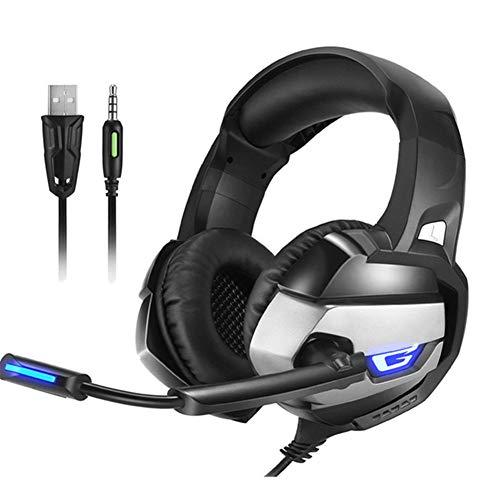 Gaming Kopfhörer Stereo-Gaming-Headset mit geräuscharmem Kopfhörer-Kopfhörer mit Mikrofon für Computerspiele PC PS4-Laptop