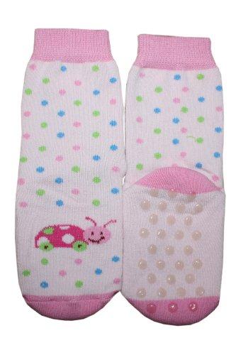 Weri Spezials Chaussettes pour Enfants en Peluche avec ABS, Couleur:Rose,\
