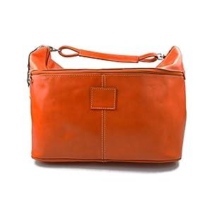 Herren leder reisetasche sporttasche schultertasche damen umhängetasche raumbeutel leder sporttasche orange reisetasche made in Italy