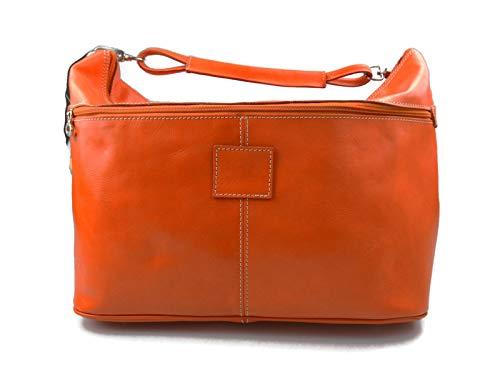 934cd86576 Borsone uomo donna borsa viaggio con manici e tracolla vera pelle arancione  borsa palestra borsa aereo ...
