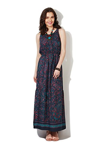 People Women's Rayon Skater Dress (P10202992168161_Navy_Medium)  available at amazon for Rs.549