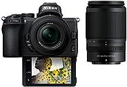 Nikon Z50 with twin lens 16-50mm and 50-250mm Bundle Kit, Mirrorless Camera Black