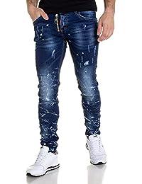BLZ Jeans Jeans bleu avec taches blanches