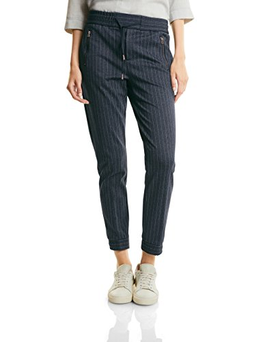 Street One Lillo Pinstripe Mw Casualfit Slimleg, Mutande Donna Blau (Night Blue 20109)