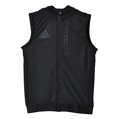 adidas Herren Weste S3 Hooded Vest, Schwarz, XS, 4056561966725