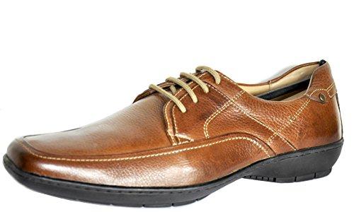 Homens Dos Amarrar De Sapatos Sapatos ajuste Conhaque Anatómico Gel De Médio Verede WR4Ixq