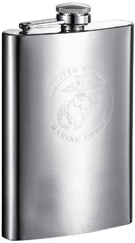 delstahl Fläschchen US Marines chrome (Bachelorette Trinkspiel)