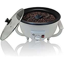 TOPQSC Kaffeeröster für professionelle Kaffeeröstung Kaffeebohnen Backen Maschine 1200W 220V