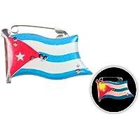 Spilletta LED con luce intermittente bandiera cuba spilla pin badge calcio europei mondiali tifosi ultra (111) - Personalizzati Pin Badge