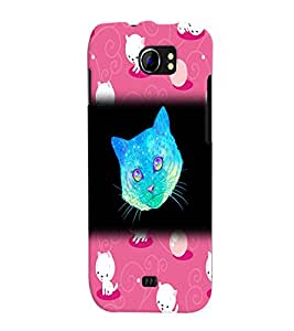 Fuson 3D Printed Cat Designer back case cover for Micromax Canvas 2 A110 - D4523