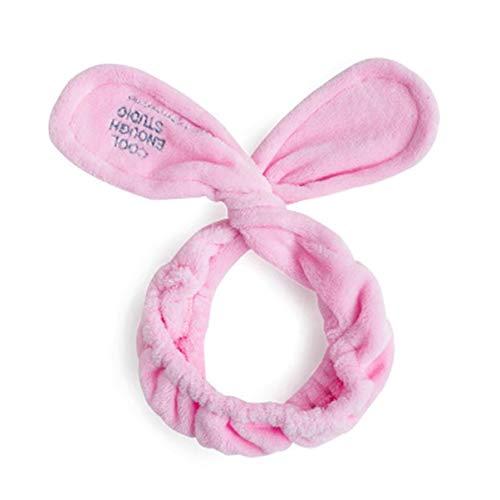 Monllack Koreanische Stirnband weibliche Make-up kosmetische Stirnband Kopfhaube Set niedlichen Schmetterling Haarband für Gesichtsmaske waschen Georgette-set