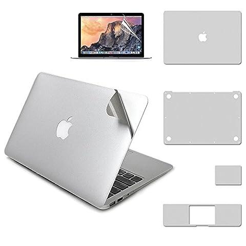 LENTION 5 in 1 Vollständige Abdeckung Schutz Skin Sticker, Schützend Vinyl Abziehbild Aufkleber für MacBook Air (13