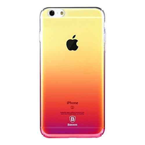 iPhone Case Cover Baseus pour iPhone 6 Plus & 6s Plus Glaze PC Étui de protection en gradient de couleur ( Color : Blue ) Pink