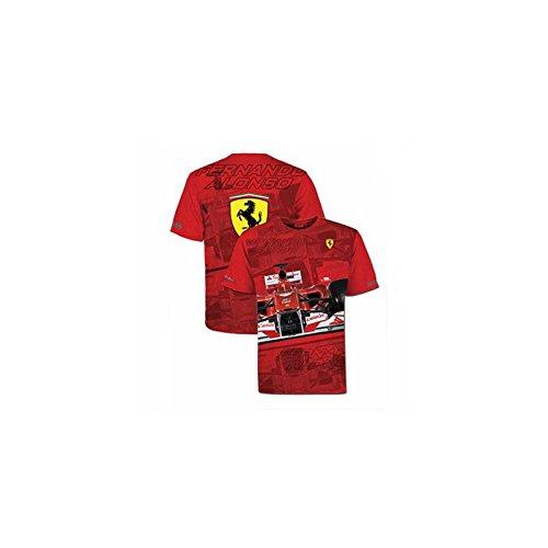 Maglietta Uomo Ferrari Fernando Alonso Casco Rosso, UOMO, XXL