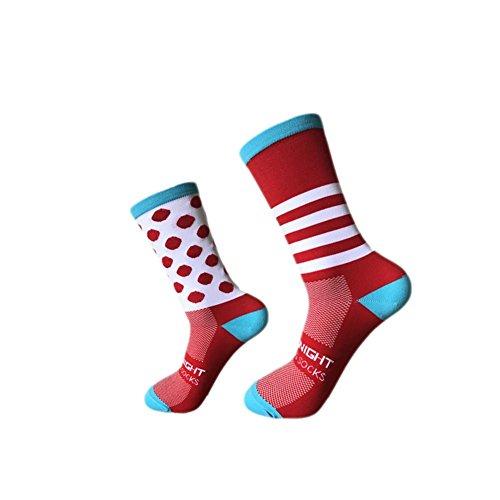 succeedw 6pcs/1pcs 6 Farben Socken Frauen Und Männer Sportsocken Basketball Socken Vier Jahreszeiten Laufsocken Radfahren Socken Polka Dot Socken Gestreifte Socken (OPP Bag Packaging)