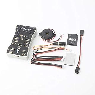 Delicacydex Pixhawk PX4 Autopilot PIX 2.4.8 32 Bit Flight Controller mit Sicherheitsschalter Summer Splitter Expand Modul für DIY RC Drone - Grau & Schwarz