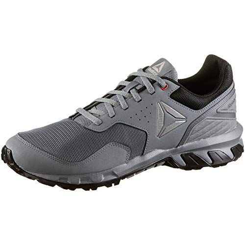 Reebok Herren Ridgerider Trail 4.0 Fitnessschuhe, Mehrfarbig (True Grey/Black/Alloy Pewter/Red/Light Sa 000), 44 EU (Herren Trail-walking-schuhe)
