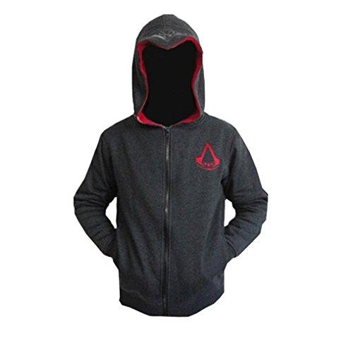 Herren Assassin 's Creed Hoodie Fleece Sweatshirt Cosplay Kostüme Gr. EU XS=Asien M(Brust 107,95 cm), (Cosplay Kostüm 2 Creed Von Assassins)