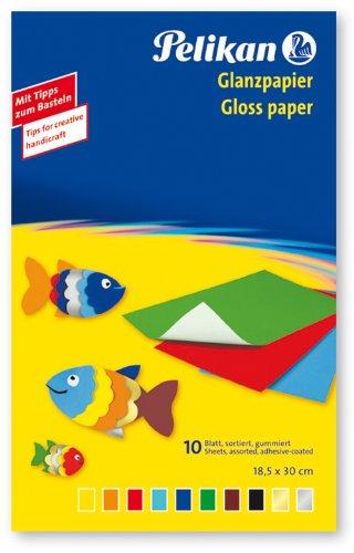 Pelikan Glanzpapier gummiert, 10 Blatt