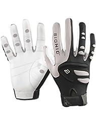 Louisville Slugger Bionic Right - Guantes de racketball, tamaño XL, color gris / negro / blanco