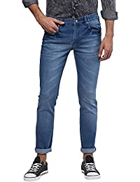 Urbano Fashion Men's Blue Stretch Slim Fit Jeans