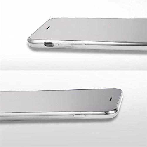 Coque pour iPhone 7, Bandmax Housse pour Apple Phone 7 TPU Souple Coussin d'Air Résistant Antichocs Protection pour iPhone 7 Bumper Case Cover pour iPhone 7 (Transparent 2, pour iPhone 7) Argenté