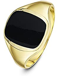 Theia Men's 9 ct Yellow Gold, Cushion Shape Signet Ring, Set with 12 x 10 mm