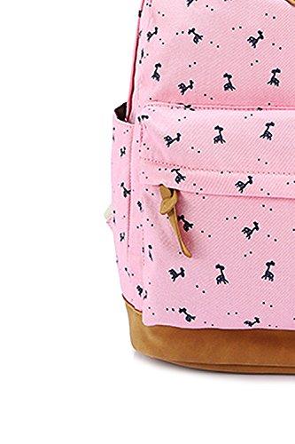 Vococal® Mädchen Student Blume Gedruckt Leinwand Rucksäcke Schulrucksäcke - Damen Multi-purpose Outdoor Reisen Rucksackhandtaschen Schultasche Tablet Laptop Tasche, Königsblau #6