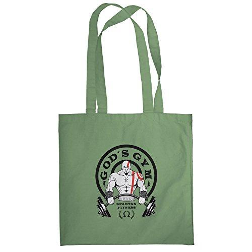 Texlab–GOD S GYM Spartan Fitness–sacchetto di stoffa Oliva
