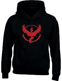 Go Team Valor Team Rot Logo Kinder Kapuzenpullover Hoodie