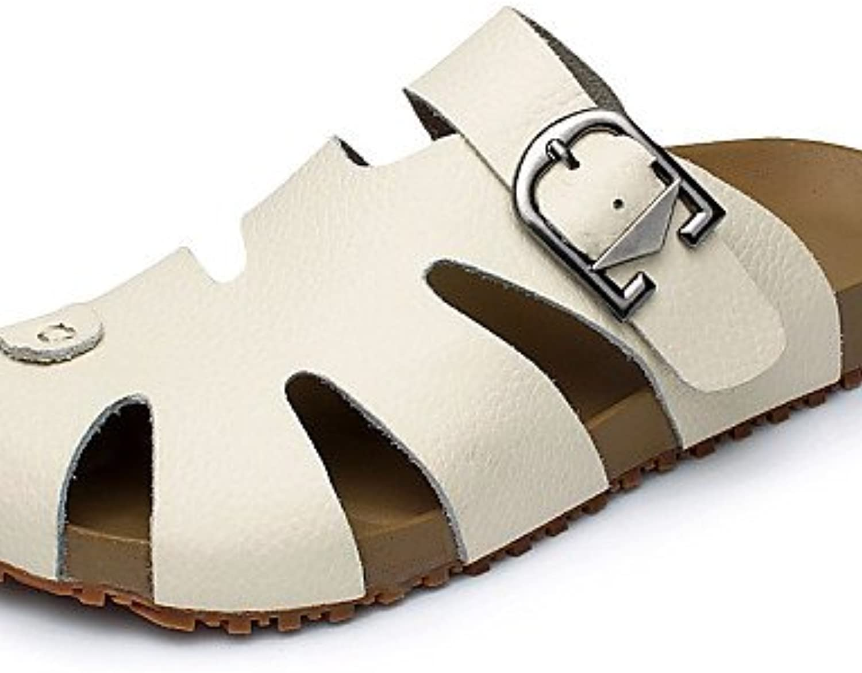NTX/zapatos de hombre exterior/Casual Piel Pantuflas/Sandalias Marrón/Amarillo/Blanco, hombre, brown-us10.5 /...