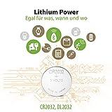 GP CR2032-40 Batterie al litio a bottone 3 V CR2032 DL2032 3 Volt - 5 confezioni da 8 pezzi