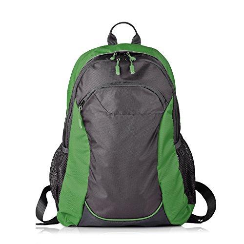 Hizoon zaino 30 litri | grande leggero impermeabile | donna uomo zaini borsa adatto per scuola lavoro viaggio trekking palestra campeggio, adatto anche per laptop 15'' (verde)