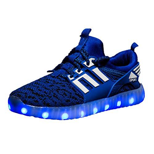 Hibote Kinder Turnschuhe mit Licht LED Leuchtende, Jungen Mädchen Sport Schuhe Mode Kinderschuhe Weiche Outdoor Lässige Laufschuhe Schuhe Sneaker für Unisex Kinder