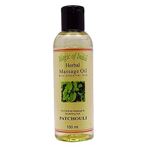 Magic of India Massage Kräuter-ätherisches Öl für Ganzkörper-Patchouli Duftöle 100ml Amber Weißen Körper-öl