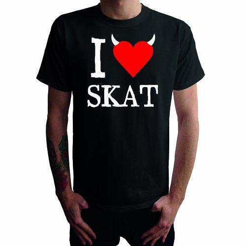 I don't love Skat Herren T-Shirt Schwarz